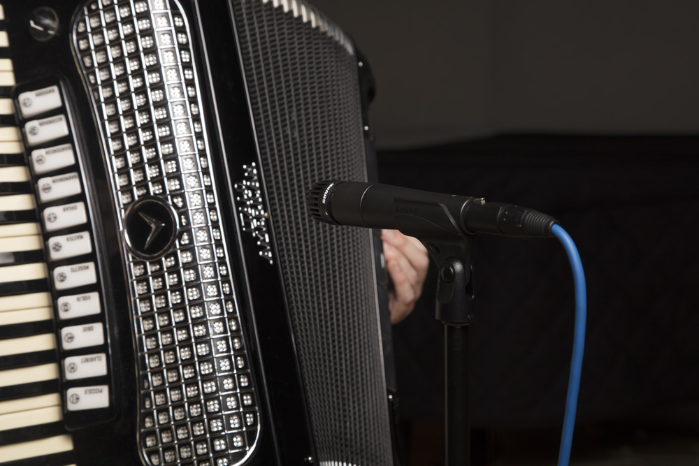 Shure SM57 Instrument Mic on Accordion