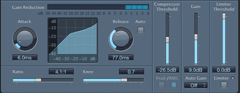 Mixing- fairly strong compression example