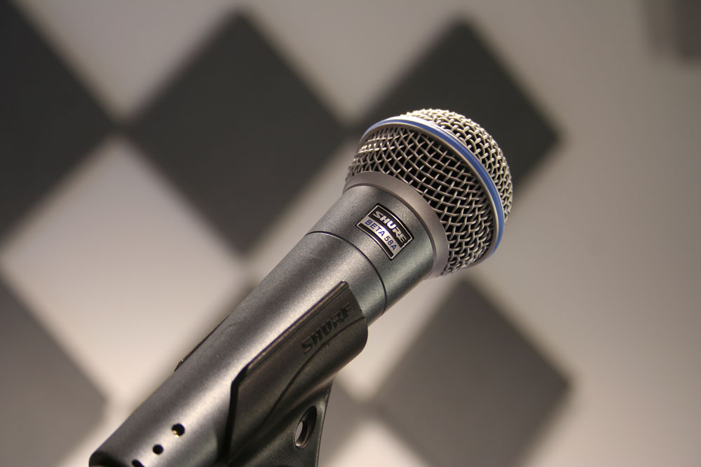 Shure Beta58A studio shot