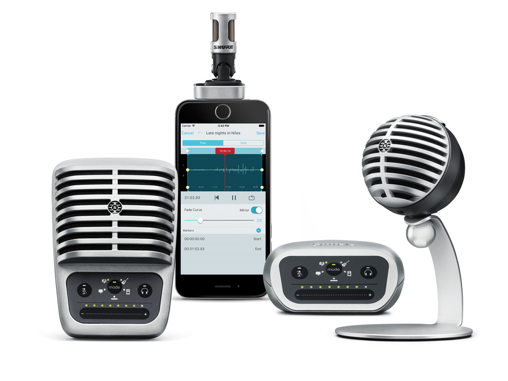 Shure MOTIV Family - MV5, MV51, MVi, and MV88