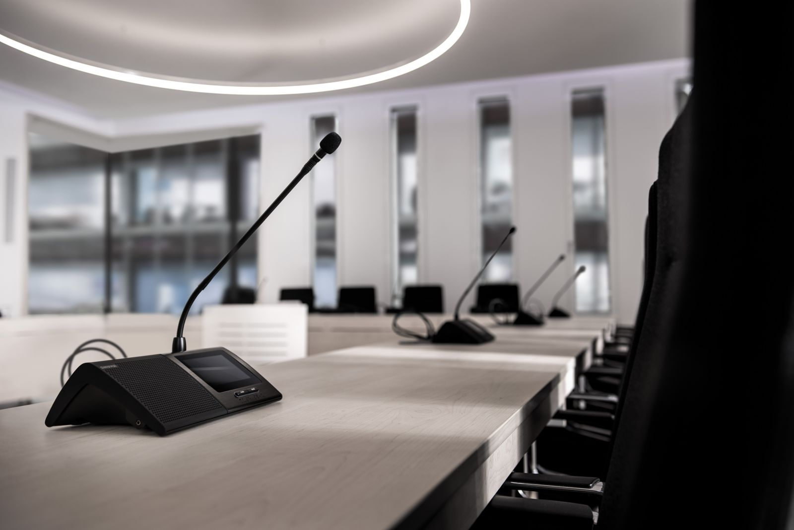 Shure MXC conferencing system in Council Space